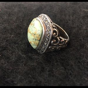Jewelry - Sterling silver and stone ring